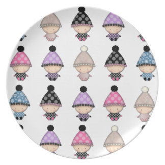 Lots of Cute Babies Pattern Dinner Plates