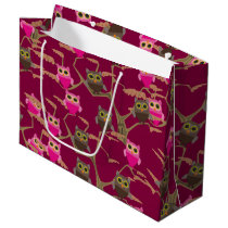 Lots of Cute Owls Large Gift Bag