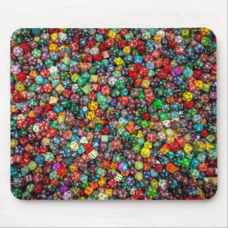 Lots of dice! mouse pad