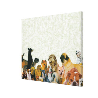 Lots of Dogs Collage Canvas Prints