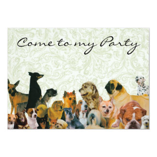 Lots of Dogs Collage Invitations