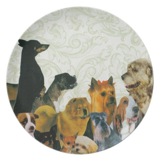 Lots of Dogs Collage Plate