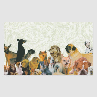 Lots of Dogs Collage stickers