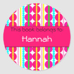 Lots of Dots! Book Label Classic Round Sticker