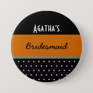 Lots of Dots - Wedding Party Pinback Button