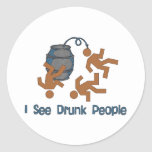 Lots Of Drunk People Classic Round Sticker