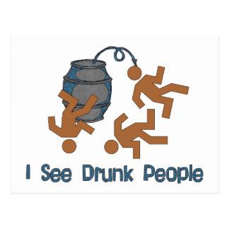 Lots Of Drunk People Postcard