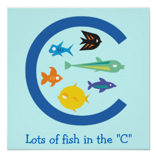 """Lots of Fish in the """"C"""" Print"""
