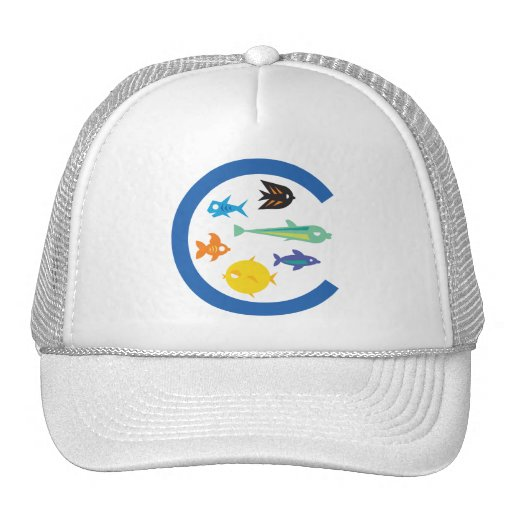 Lots of fish in the c trucker hat zazzle for American flag fish hat