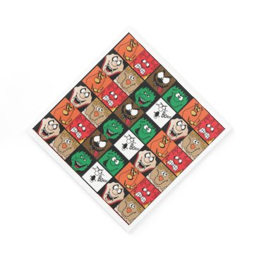 Halloween Themed Lots of Fun Scary Halloween Faces Napkin