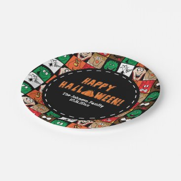 Halloween Themed Lots of Fun Scary Halloween Faces Paper Plate