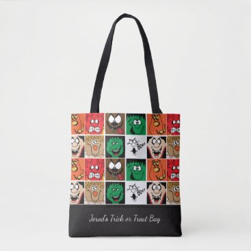 Halloween Themed Lots of Fun Scary Halloween Faces Tote Bag