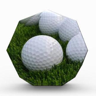 Lots of Golf Balls on the Grass Acrylic Award