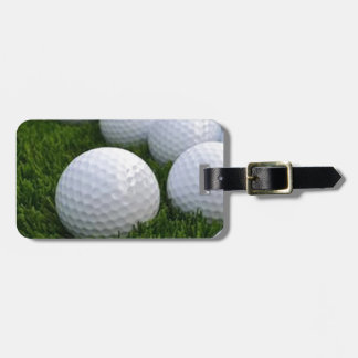 Lots of Golf Balls on the Grass Bag Tag