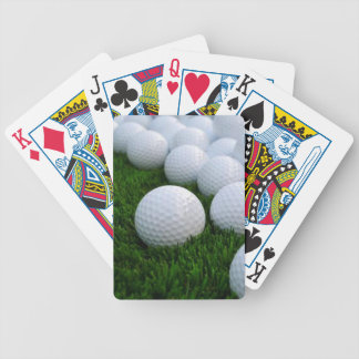 Lots of Golf Balls on the Grass Bicycle Playing Cards