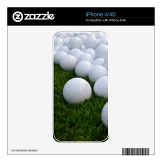Lots of Golf Balls on the Grass Decal For iPhone 4