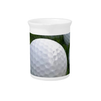 Lots of Golf Balls on the Grass Pitcher