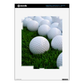 Lots of Golf Balls on the Grass Skin For iPad 3