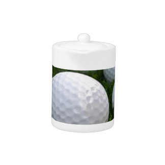 Lots of Golf Balls on the Grass Teapot
