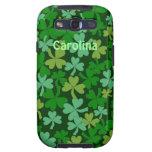 Lots of Green Shamrocks Custom Name Irish Samsung Samsung Galaxy SIII Covers