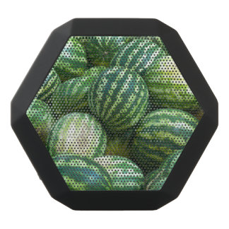 Lots of green watermelons pattern background black bluetooth speaker