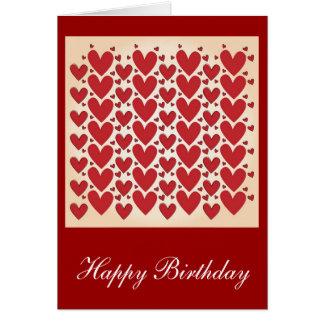 """Lots of Hearts"" Birthday Design Card"