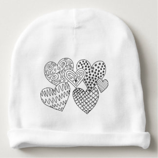 Lots of Hearts DIY Coloring Doodle Gifts Baby Beanie
