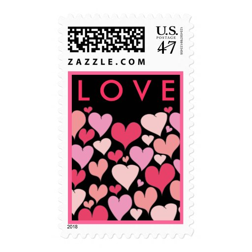 Lots of Hearts LOVE Postage
