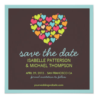 Lots of Hearts Love Save the Date Announcement