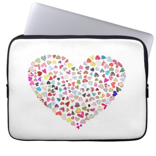 Lots of Hearts Neoprene Laptop Sleve Computer Sleeves
