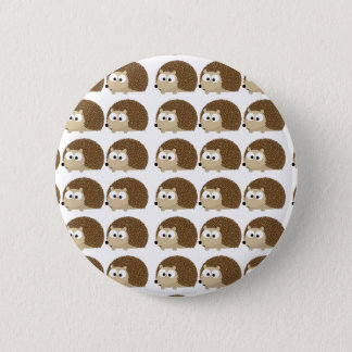 Lots of hedgehogs pinback button