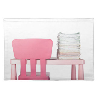 Lots of homework cloth placemat