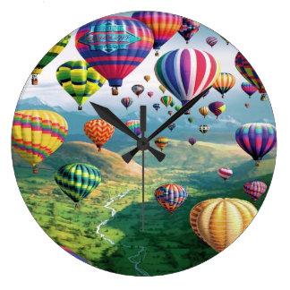 Lots of Hot Air Balloons Round Large Wall Clock
