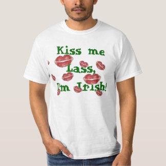 lots of kisses2, Kiss me Lass,I'm Irish! T-shirts
