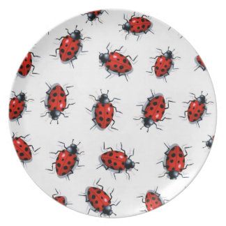 Lots of Ladybugs, Ladybirds: Original Art Dinner Plate