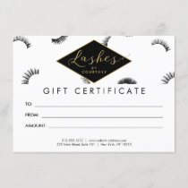 Lots of Lashes Lash Salon White/Black Gift Card