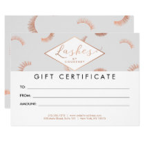 Lots of Lashes Pattern Gray/Rose Gold Gift Card