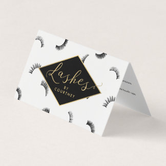 Lots of Lashes Salon White/Black Aftercare Business Card