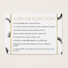 Lots Of Lashes Salon White/black Aftercare Card at Zazzle