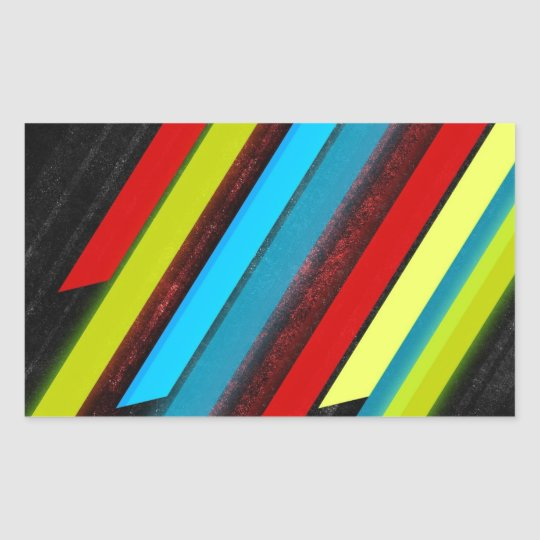 lots of lines rectangular sticker