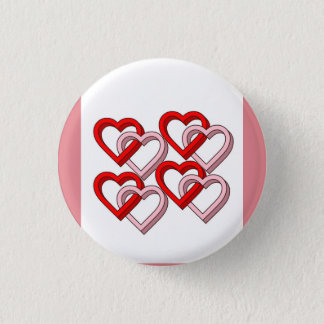 Lots of love heart button
