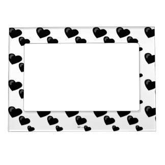 Lots of Love (Heart Pattern) (Black) Magnetic Photo Frame