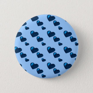 Lots of Love (Heart Pattern) (Blue) Button