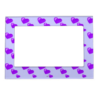 Lots of Love (Heart Pattern) (Purple) Magnetic Picture Frame