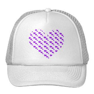 Lots of Love (Heart Pattern) (Purple) Trucker Hat