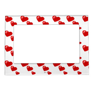 Lots of Love (Heart Pattern) (Red) Magnetic Photo Frame