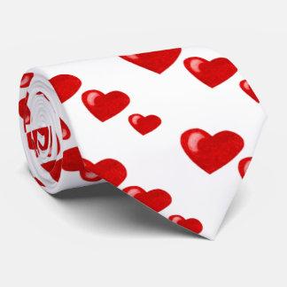 Lots of Love (Heart Pattern) (Red) Tie