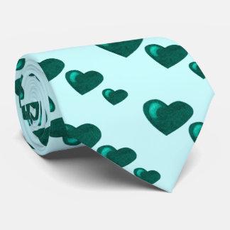 Lots of Love (Heart Pattern) (Teal Green) Tie