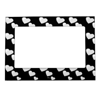 Lots of Love (Heart Pattern) (White) Magnetic Frame