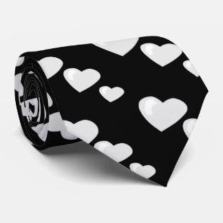 Lots of Love (Heart Pattern) (White) Tie
